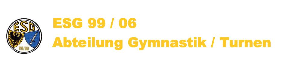 ESG 99 / 06 Abteilung Gymnastik / Turnen